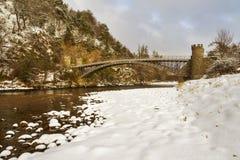 Мост Томаса Telford, Craigellachie. Стоковое Фото