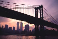 Мост Том Wurl TwinTowers Манхаттана Стоковое Изображение RF