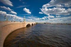 Мост троицы в Санкт-Петербурге Стоковые Изображения RF