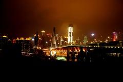 Мост тысячелетия Чунцина стоковая фотография rf