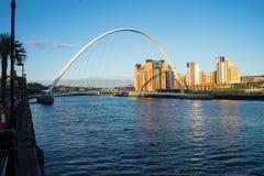 Мост тысячелетия Gateshead Стоковые Изображения RF