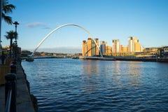 Мост тысячелетия Gateshead Стоковая Фотография