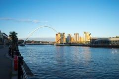 Мост тысячелетия Gateshead Стоковое Изображение