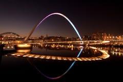 Мост тысячелетия Gateshead Стоковое Изображение RF