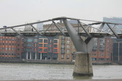 Мост тысячелетия в Лондоне Стоковое фото RF