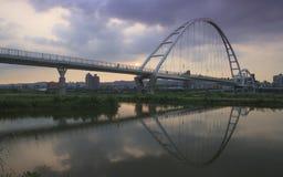 Мост луны в вечере Стоковое Фото