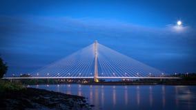 Мост Уотерфорд Suir реки Стоковые Фотографии RF