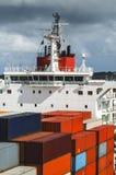 Мост управлением корабля грузового корабля Стоковая Фотография RF