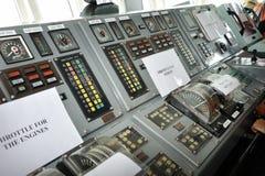 Мост управлением военного корабля Стоковое фото RF