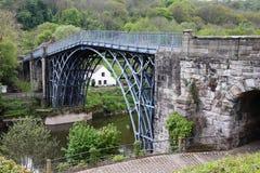 Мост утюга в Шропшире, Великобритании Стоковые Изображения