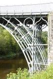 Мост утюга над рекой Severn Стоковое фото RF