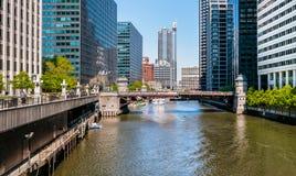 Мост улицы Адамса, Чикаго Стоковое Фото