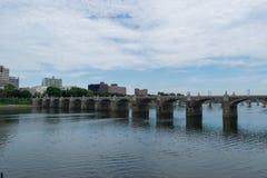 Мост улицы рынка в Harrisburg, Пенсильвании Стоковое Изображение