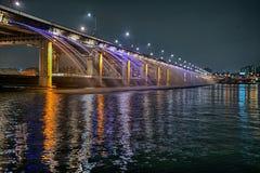 Мост фонтана Сеула Стоковое Изображение RF