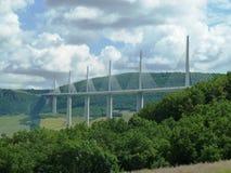 Мост Франция виадука Мийо Стоковая Фотография RF