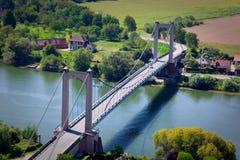 мост Франция над переметом Стоковое Фото
