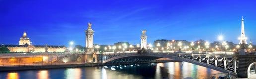 мост Франция paris 3 alexandre Стоковое фото RF