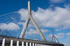 Мост холма бункера Zakim мемориальный в Бостоне, США стоковое фото