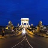 Мост цепей Будапешта Венгрии стоковые фотографии rf