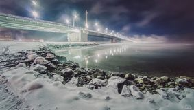 Мост через залив Kola Стоковые Фото