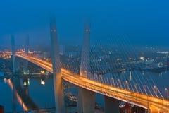 Мост через золотой рожок vladivostok Россия 02 09 2015 Стоковые Изображения RF