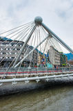 Мост через реку Gran Valira в Ла Vella Андорры Стоковое Изображение RF