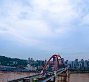 Мост Чунцина Caiyuanba Рекы Янцзы стоковая фотография rf