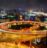 Мост Шанхая Nanpu стоковое фото
