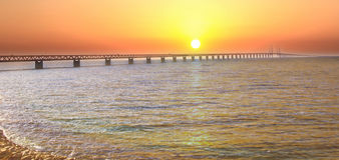 Мост Швеция Malmo Oresund Стоковое Фото