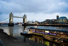 мост шлюпок london старый Стоковая Фотография RF