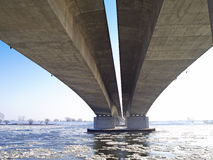 Мост шоссе A1 через реку Висла Стоковое Изображение RF