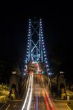 Мост львов - Ванкувер, ДО РОЖДЕСТВА ХРИСТОВА Стоковое Изображение RF