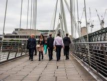 Мост юбилея в Лондоне, hdr Стоковые Изображения RF