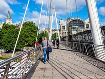 Мост юбилея в Лондоне, hdr Стоковая Фотография RF