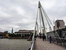 Мост юбилея в Лондоне, hdr Стоковое Фото