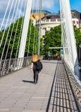 Мост юбилея в Лондоне (hdr) Стоковые Изображения