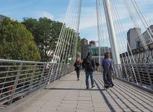 Мост юбилея в Лондоне Стоковая Фотография