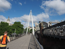 Мост юбилея в Лондоне Стоковое фото RF