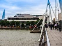 Мост юбилея в Лондоне (hdr) Стоковая Фотография