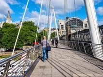 Мост юбилея в Лондоне (hdr) Стоковое Изображение