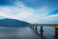 Мост японии Lao в утре 2 Стоковая Фотография RF