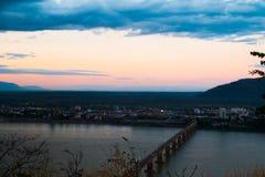 Мост японии Lao в утре Стоковая Фотография RF