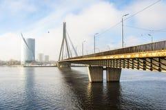 Мост 01 Рига Vansu Стоковое Изображение