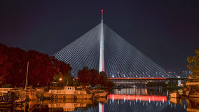 Мост Ada в Белграде Стоковые Фото