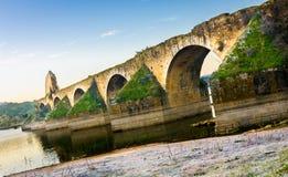 Мост Ajuda, Olivenza Стоковое Изображение