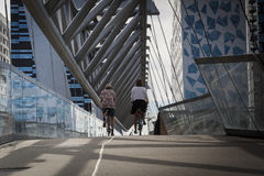 Мост Akrobaten пешеходный в Осло, Норвегии Стоковое фото RF