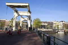мост amsterdam Стоковые Фото