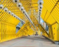Мост Andreyevsky пешеходный в Москве Стоковое Изображение