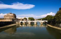 Мост Angelo Святого стоковая фотография rf