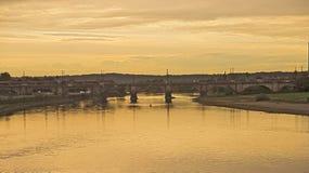 Мост Augustus, Дрезден, Германия Стоковые Изображения RF